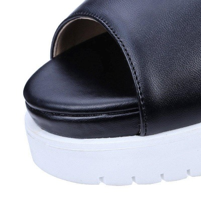 Zipper Hollow-out Wedge Heel Elegant Boots On Sale_8