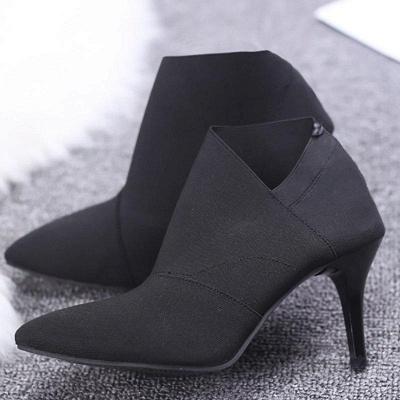 Pointed Toe Stiletto Heel Elegant Boots On Sale_10