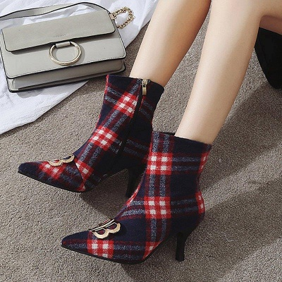 Suede Stiletto Heel Daily Pointed Boots On Sale_2