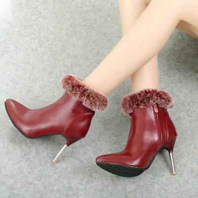 Stiletto Heel Daily Pointed Toe Suede Boots On Sale_4