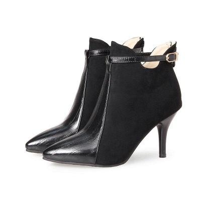 Buckle Stiletto Heel Daily Elegant Boots On Sale_6