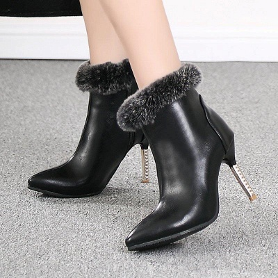 Stiletto Heel Daily Pointed Toe Suede Boots On Sale_3