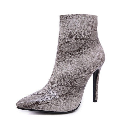 Women's Boots Stiletto Heel Pink Zipper Pointed Toe Sexy Boots On Sale_6