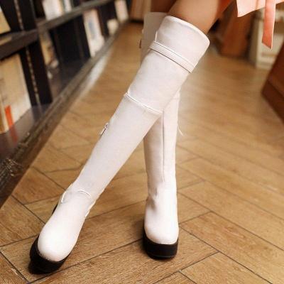 Women's Boots Wedge Heel Black Round Toe Boots On Sale_6