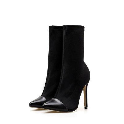 Stiletto Heel Pointed Toe Elegant Boots On Sale_1