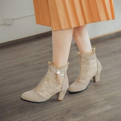 Lady Chunky Heel Boots On Sale_2