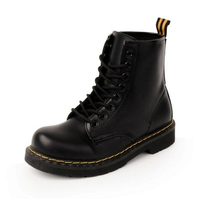 Chunky Heel Lace-up Round Toe Boots On Sale_4