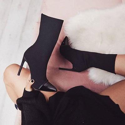 Stiletto Heel Pointed Toe Elegant Boots On Sale_5