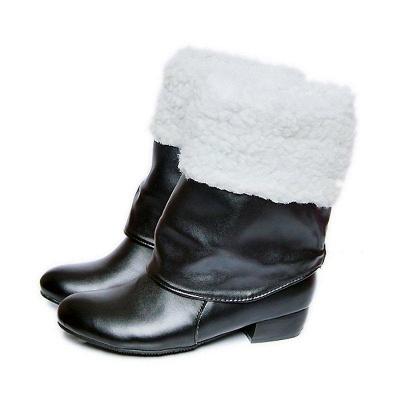 Chunky Heel Daily PU Round Boots On Sale_4