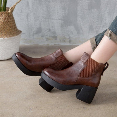 Cowhide Leather Boots On Sale_2
