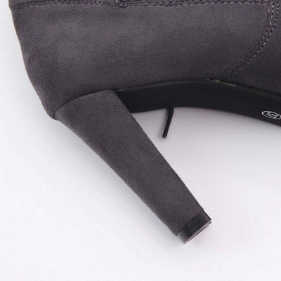 Suede Daily Lace-up Chunky Heel Boots On Sale_6