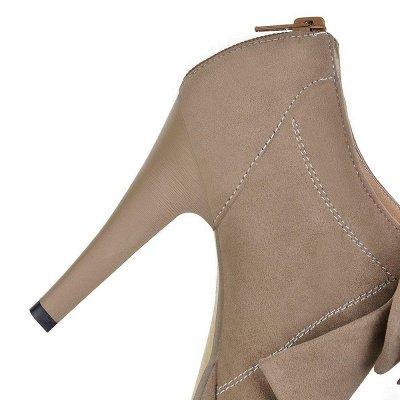 Round Toe Bowtie Hollow Stiletto Heel Women's Boots On Sale_10