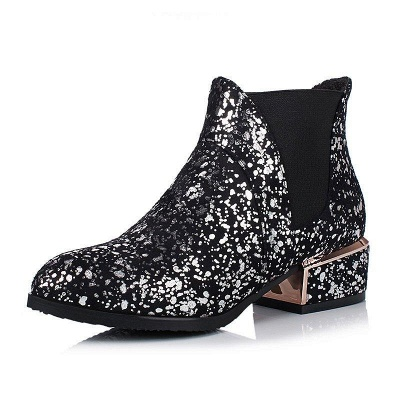 Chunky Heel Suede Zipper Boots On Sale_2