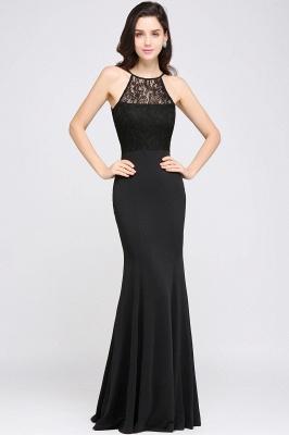 CHERISH | Mermaid Halter Floor-length Chiffon Black Prom Dress_1
