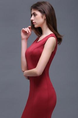 Sheath Scoop Floor-Length Elegant Evening Dresses_7