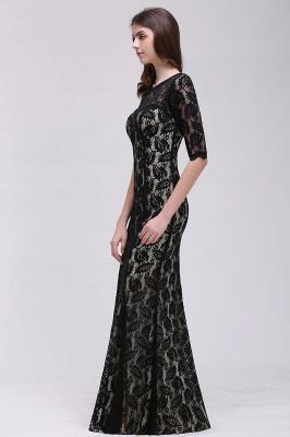 Mermaid Jewel Lace Black Sexy Evening Dresses_5
