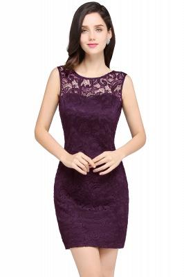ARYA | Cheap Sheath Scoop Black Lace Homecoming Dresses | Sexy Short Prom Dresses_2