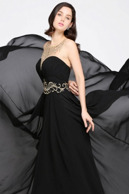 A-line Scoop Chiffon Prom Dress With Lace_7