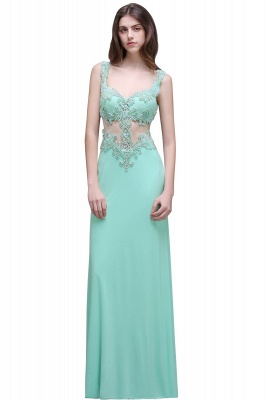 Sleeveless Backless See-Through Sweetheart Long Floor-Length Evening Gown_1