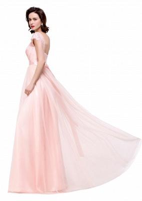 ELLIANA | Elegant Short Sleeves A-line Chiffon Bridesmaid Dresses with Ribbon Bow Sash_14