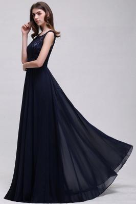 Cheap Sleeveless Lace Long Chiffon Prom Dress Online in Stock_8