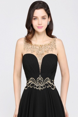 A-line Scoop Chiffon Prom Dress With Lace_4