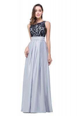 ELLIE | Elegant A-line Floor-length Crew Chiffon Lace Bridesmaid Dresses_5