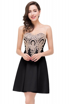 Cheap Short Applique Sleeveless Prom Homecoming Dress in Stock_3