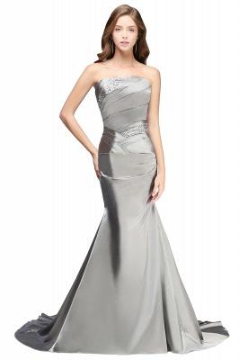 CELESTE | A-line Strapless Satin Party Dress_1