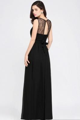 CHARLOTTE  Floor-length Black Chiffon Sexy Prom Dresses | Black Evening Dresses_4