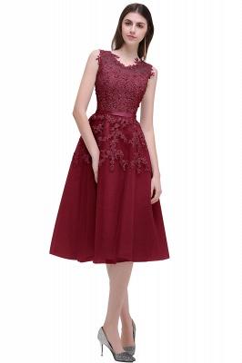 EMORY | Crew Tea Length Lace A-Line Appliques Short Prom Dresses_3