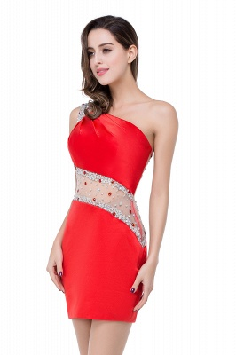 Cheap Cheap Crystal Beading One-shoulder Short Mermaid Prom Dress in Stock_11
