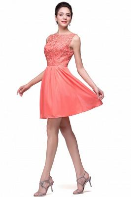 Cheap Short Chiffon Homecoming Dresses | Affordable Knee Length Chiffon Lace Party Dresses_13