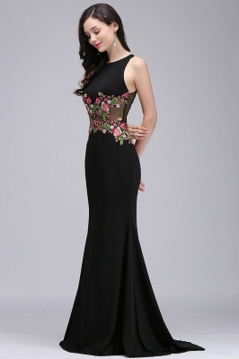 ELAINE | Mermaid Floor-length Sleeveless Prom Dresses with Embroidery-flowers_6