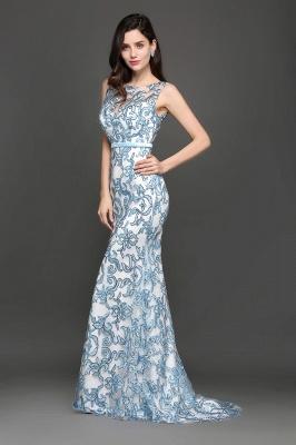 Mermaid Sweep Train Lace Evening Dresses_6