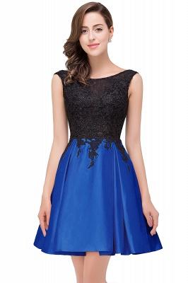EVA | A-line Sleeveless Short Lace Appliques Prom Dresses_3