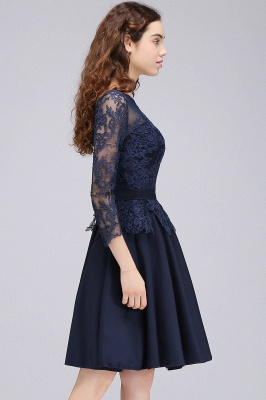 Cheap Dark Navy A-line Homecoming Dress in Stock_7