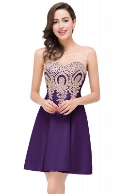 ESTHER | A-line Sleeveless Appliques Chiffon Short Prom Dresses_3