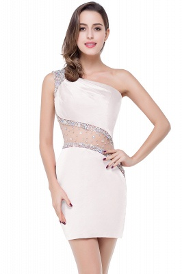 Cheap Cheap Crystal Beading One-shoulder Short Mermaid Prom Dress in Stock_1