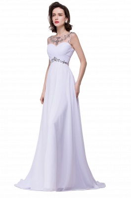 Cheap A-line Sweetheart Chiffon Evening Dress With Crystal in Stock_8