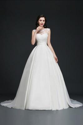ELIZABETH | A-line Sleeveless Floor-length Chiffon Lace Wedding Dresses_9