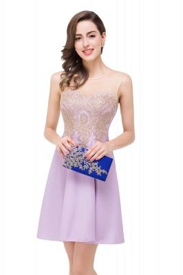 ESTHER | A-line Sleeveless Appliques Chiffon Short Prom Dresses_12