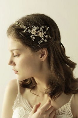 Beautiful Alloy&Rhinestone Special Occasion Headbands Headpiece with Imitation Pearls_6