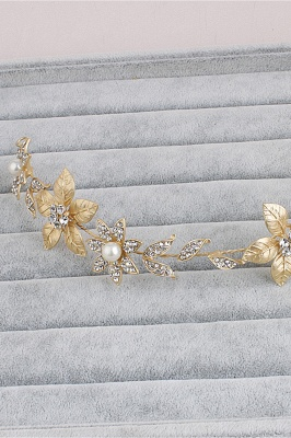 Floral Alloy &Imitation Pearls Daily Wear Hairpins Headpiece with Rhinestone_5