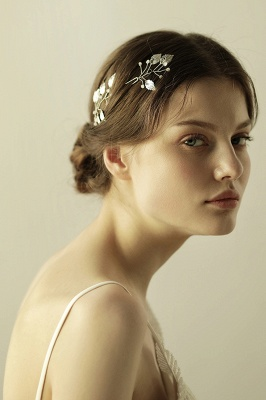 Beautiful Alloy Daily Wear Hairpins Headpiece with Imitation Pearls_3