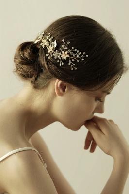 Beautiful Alloy&Rhinestone Wedding Combs-Barrettes Headpiece with Imitation Pearls_1