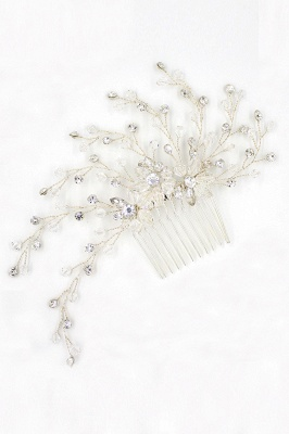 glamourous Alloy&Rhinestone Daily Wear Combs-Barrettes Headpiece with Crystal_11