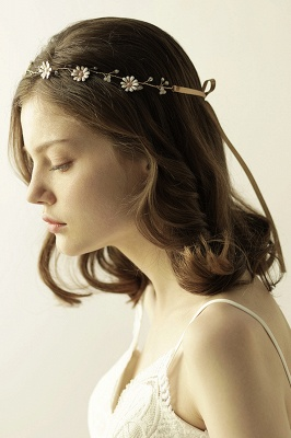 Floral  Alloy Party Headbands Headpiece with Rhinestone_3