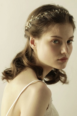 Beautiful Alloy&Rhinestone Special Occasion Headbands Headpiece with Imitation Pearls_2