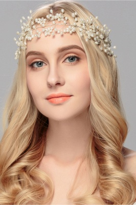 Beautiful Alloy &Imitation Pearls Party Headbands Headpiece with Rhinestone_4